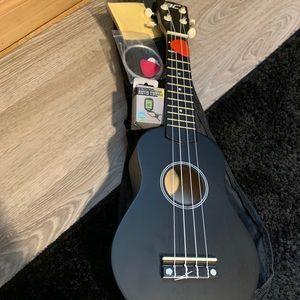 black tenor ukulele